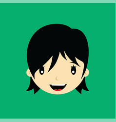 Cartoon face expression female woman girl art vector