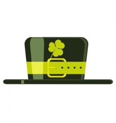 Cartoon green hat vector