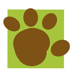 Cartoon paw vector