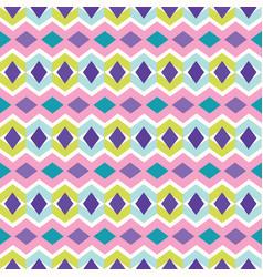 chevron diamond pattern seamless pattern vector image