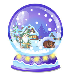 christmas souvenir in form house in a vector image