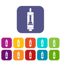 clearomizer for cigarette icons set vector image