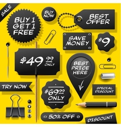 Collection of sale labels badges and supplies vector image