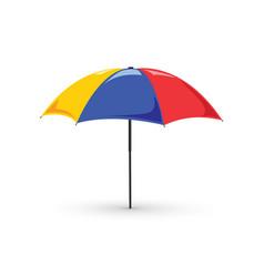 Colorful beach umbrella vector