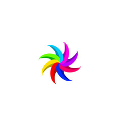 Colorful flower logo vector