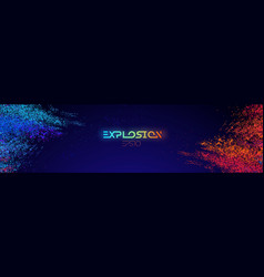 colour powder explosion light background blue and vector image