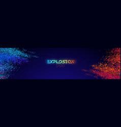 Colour powder explosion light background blue vector