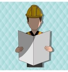 Construction worker design vector