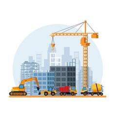 Contruction site cartoon vector