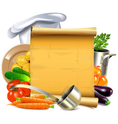 cooking scroll vector image