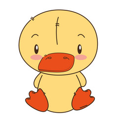 Cute and adorable duck character vector