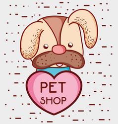 Dog pet shop cute cartoon vector