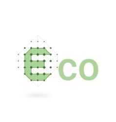 Eco smart logo Eco concept vector image