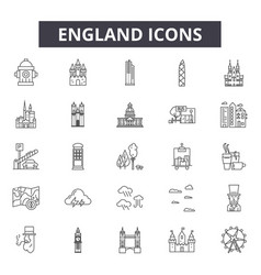 england line icons for web and mobile design vector image
