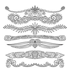 Ethnic borders and page dividers bracelets design vector