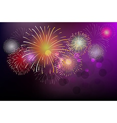 Fireworks and happy new year vector