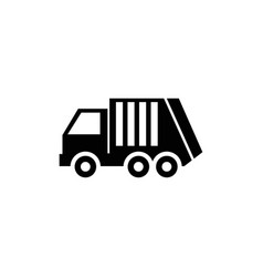 garbage loader truck sanitary vehicle icon vector image