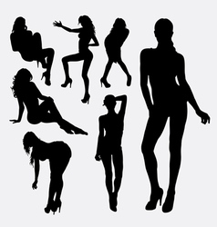 Girl sexy female silhouette vector