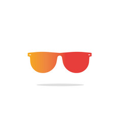 glasses icon flat gradient sunglasses vector image