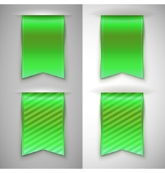 Green ribbon bookmark for books vector