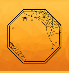 Halloween geometric frame vector
