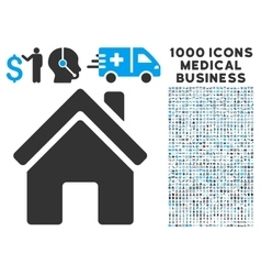 Home Building Icon with 1000 Medical Business vector