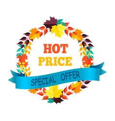 hot price special offer on vector image