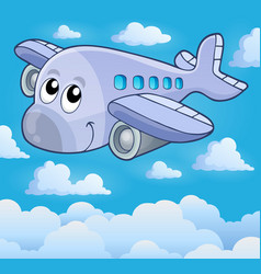 image with airplane theme 5 vector image