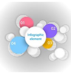Infographic element Circles vector