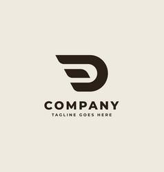 Initial d monogram logo design vector