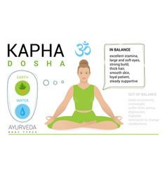 Kapha dosha endomorph constitution human body vector