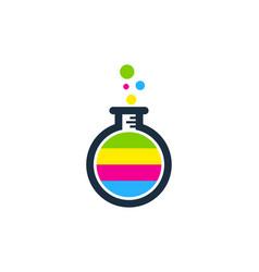 Lab paint logo icon design vector