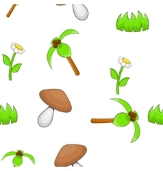 Landscape pattern cartoon style vector