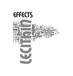 Lecithin effects text background word cloud vector