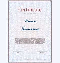 Light certificate mockup vector