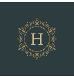 Luxury Logo template flourishes calligraphic vector image