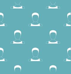 man user pattern seamless vector image