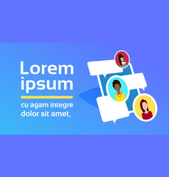 mobile online messenger application concept mix vector image