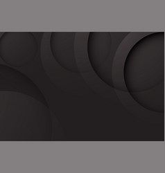 Modern black backgrounds abstract 3d circle vector