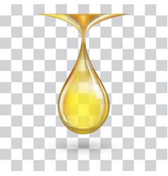 one big yellow drop vector image