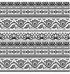 pakistani truck art seamless pattern vector image