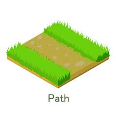 Path icon isometric style vector