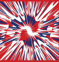 Red white and blue splash abstract vector