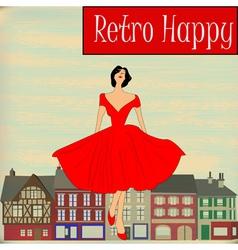 Retro Happy vector image