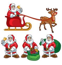 santa claus cartoon set vector image