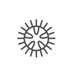 sea urchin line outline icon vector image