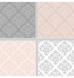 Seamless abstract damask pattern vector