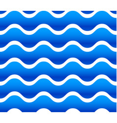 Seamless pattern background with waving wavy vector