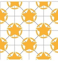 Seamless pattern with yellow stars and dotted vector image vector image
