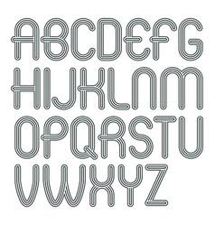 Set trendy modern capital alphabet letters vector